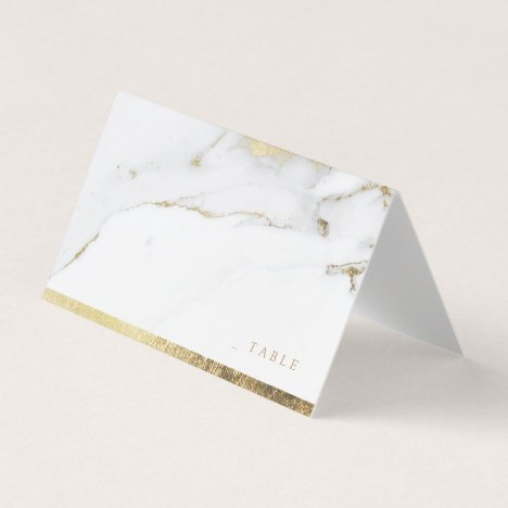 Faux gold marble luxury modern wedding place cards