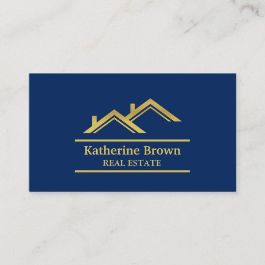 Faux gold navy blue modern real estate realtor business card faux gold navy blue modern real estate realtor business card colourmoves