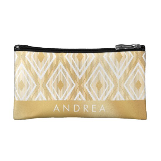 Faux Gold Pattern Makeup bag