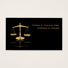 FAUX GOLD SCALE/ATTORNEY/DIY BACKGROUOND BUSINESS CARD at Zazzle