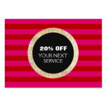 Faux Gold Sequins Hair Salon Discount Coupon 2 Large Business Card