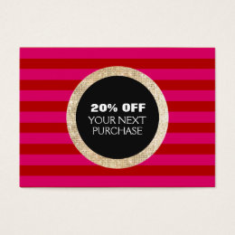Online retail business cards templates zazzle faux gold sequins striped fashion beauty coupon business card reheart Image collections