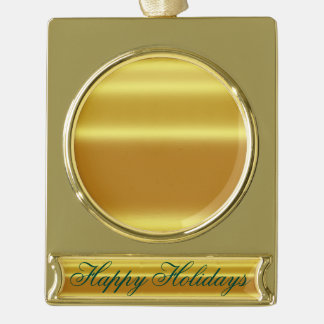 Faux gold,shining,metallic,yellow,golden,graphic d gold plated banner ornament