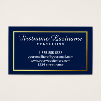 Faux Gold Simple Business Cards