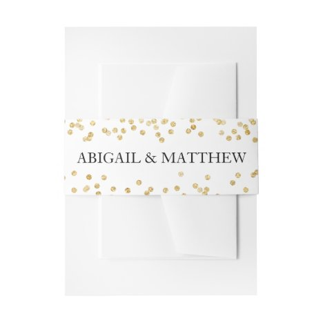 Faux Gold Sparkle Confetti Wedding In | Belly Band