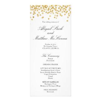 Faux Gold Sparkle Confetti Wedding Program
