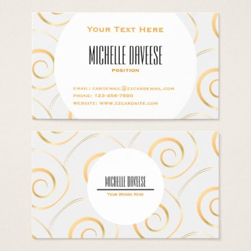 Professional Business Faux Gold Spiral Business Set | Business Card