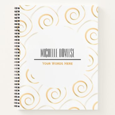 Professional Business Faux Gold Spiral Business Set | Notebook