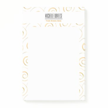 Professional Business Faux Gold Spiral Business Set | Post-it Notes