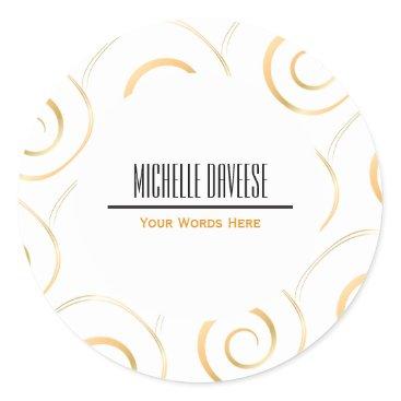 Faux Gold Spiral Business Set   Sticker