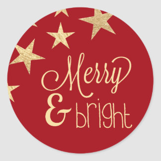 Faux Gold Star | Merry & Bright Holiday Sticker