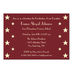 Kindergarten graduation invitations announcements zazzle faux gold stars school graduation party invitation filmwisefo