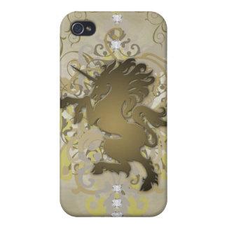 Faux Gold Urban Fantasy Unicorn 4g I iPhone 4 Cover