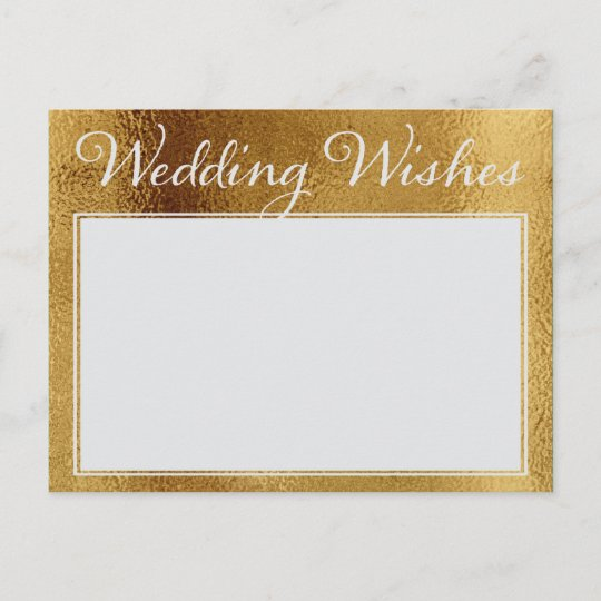 faux gold wedding wishes advice for bride groom
