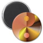 Faux Gold Yin Yang Fridge Magnets