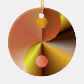 Faux Gold Yin Yang Christmas Tree Ornaments