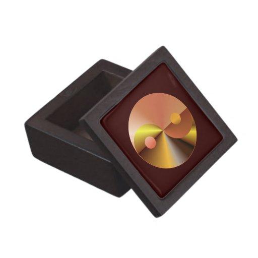 Faux Gold Yin Yang Premium Trinket Box