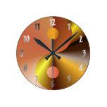 Faux Gold Yin Yang Wall Clocks