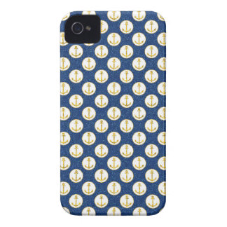 Faux Golden Anchors Away iPhone 4 Cover