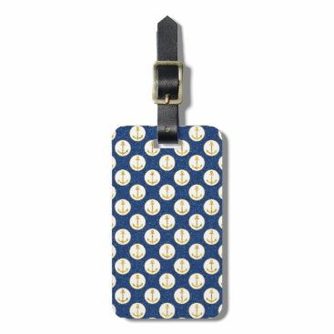 Faux Golden Anchors Away Luggage Tag