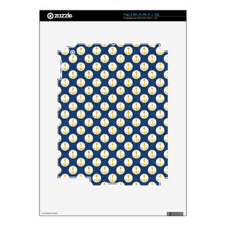 Faux Golden Anchors Away Skins For iPad 2