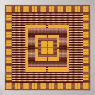 Faux Golden Brown Window Tiles : Decoration