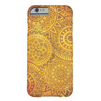 Faux Golden Suns pattern Barely There iPhone 6 Case