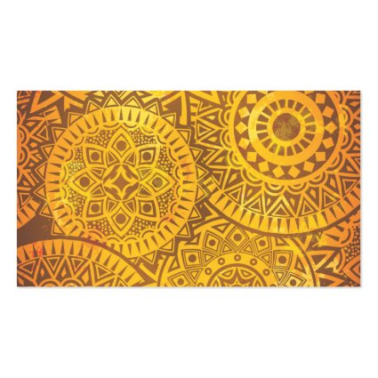 Faux Golden Suns pattern Business Cards