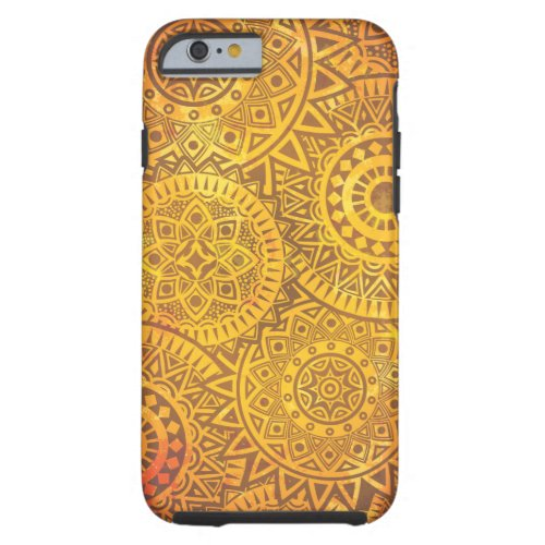 Faux Golden Suns pattern Tough iPhone 6 Case