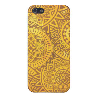 Faux Golden Suns pattern Cases For iPhone 5