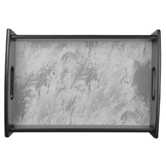 Faux Gray Marble Design on Serving Tray