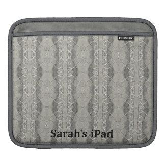 Faux Gray Snakeskin Leather iPad Sleeve