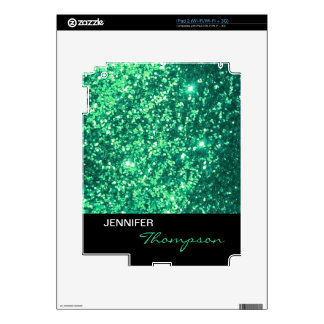 Faux gree glittering, stylish, trendy, skins for the iPad 2