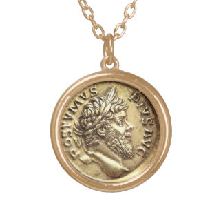 Faux Greek Coin Necklace