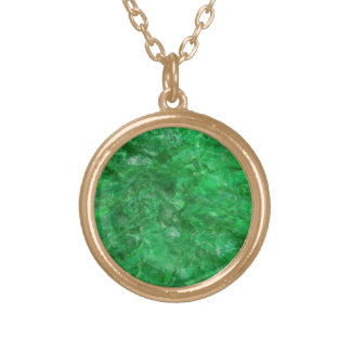 Faux Green Emerald Necklace