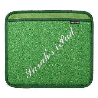 Faux Green Glitter iPad Sleeve