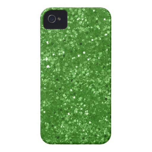 Faux Green Glitter iPhone 4 Case-Mate Case
