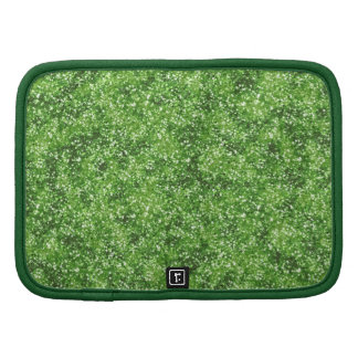 Faux Green Glitter Planners