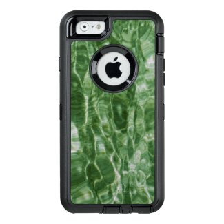 Faux Green Marble Abstract Water Photo OtterBox iPhone 6/6s Case