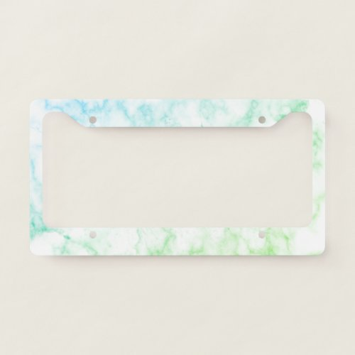 Faux Green Marble License Plate Frame