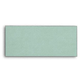 Faux Green Parchment Envelope
