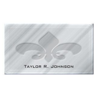 Faux Grey Marble Fleur de Lis Double-Sided Standard Business Cards (Pack Of 100)