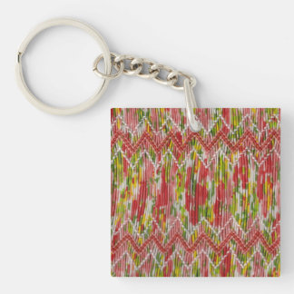 Faux Hand Smocked Keychain