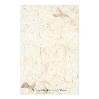 Faux Handmade Paper Hummingbird Birds Wildlife