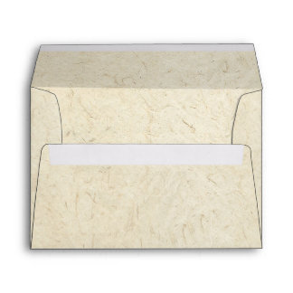Faux Handmade Paper Manuscript Look Envelope