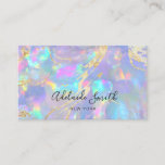 """faux holographic opal stone business card<br><div class=""""desc"""">please note the holographic effect is not real,  but just simulated</div>"""