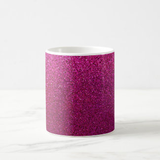 Faux Hot Pink Glitter Background Sparkle Classic White Coffee Mug