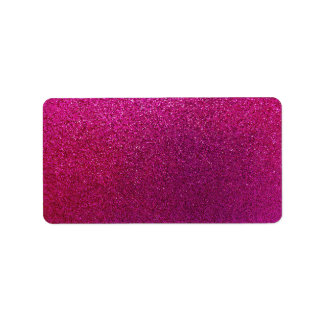 Faux Hot Pink Glitter Background Sparkle Label