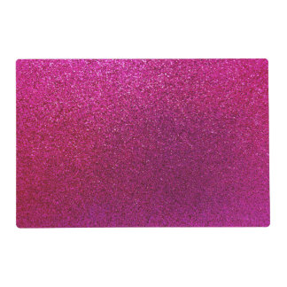 Faux Hot Pink Glitter Background Sparkle Placemat