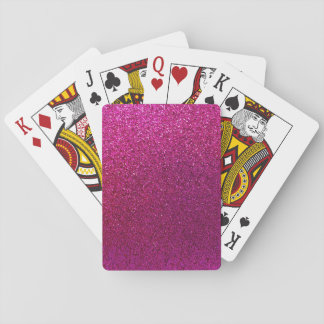Faux Hot Pink Glitter Background Sparkle Playing Cards